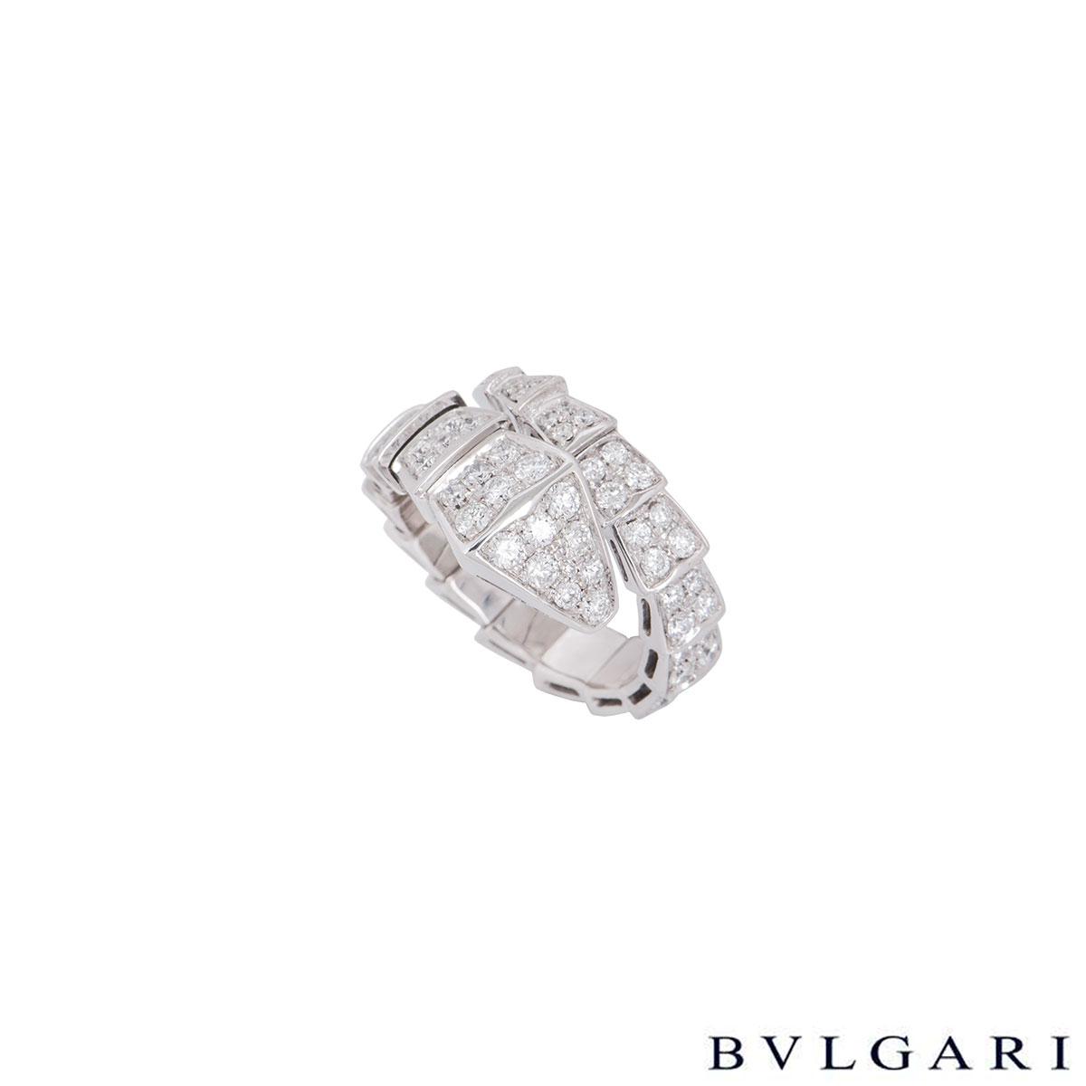 29318551012af Bvlgari White Gold Diamond Serpenti Ring 347721